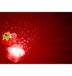 heart gift vector image vector image