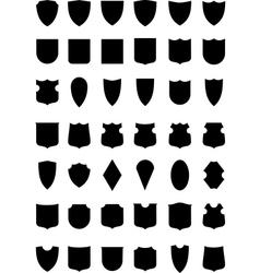 heraldic shields silhouettes vector image vector image