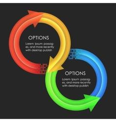 Infographics design template Circular arrows vector image vector image