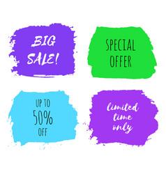 set of big sale design templates vector image