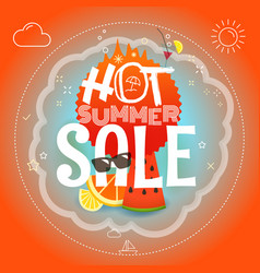 summer sale hot summer vector image vector image