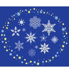 Decorative snowflakes vector image vector image