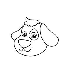 Dog cartoon drawing head vector