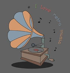 I love retro music vector