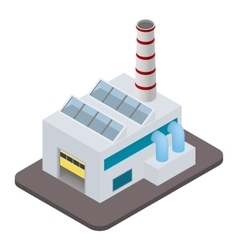 isometric factory building icon vector image vector image