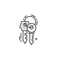 line keys logo vector image vector image