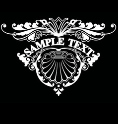 Ornate Triangle Text vector image vector image