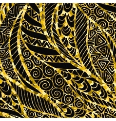 Abstract Golden floral background vector image vector image
