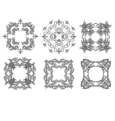 al 0750 six ornaments vector image vector image