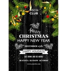 Christmas party template background decoration vector image vector image