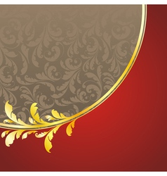 decorated golden pattern vector image