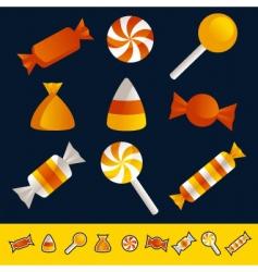 halloween candy vector image