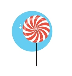 Line Icon with Flat Graphics Element of Sweet vector image