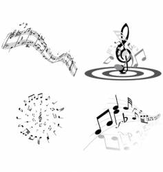 musical notes vector image vector image
