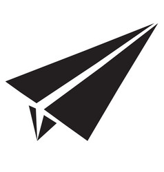 paper airplane flat icon paper airplane sign vector image
