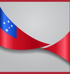 samoan wavy flag vector image vector image