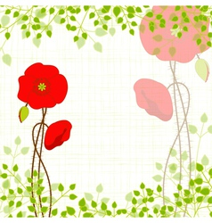 Springtime Red Poppy vector image vector image