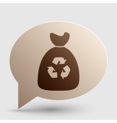 Trash bag icon Brown gradient icon on bubble with vector image vector image