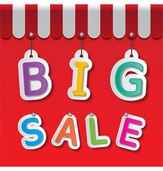 big sale tag vector image
