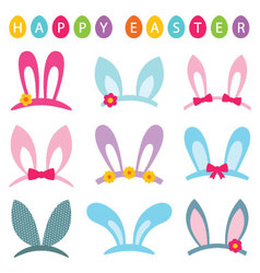 Easter photo booth props set vector image vector image