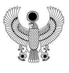 egyptian ancient symbol vector image vector image