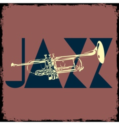 Trumpet musical background vector image