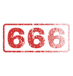 666 rubber stamp vector image
