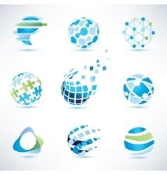Abstract globe symbol setcommunication vector
