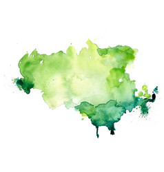 Abstract green watercolor stain texture vector