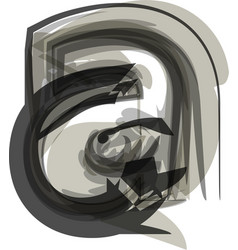 abstract letter a vector image