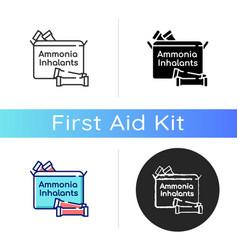 Ammonia inhalants icon vector
