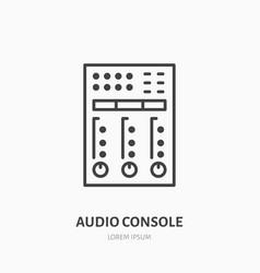 audio console flat line icon sound board audio vector image
