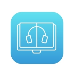Audiobook line icon vector image
