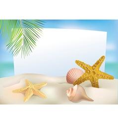 Beach blank paper vector