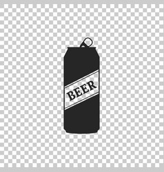 beer can icon isolated on transparent background vector image