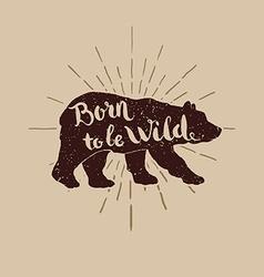 birn wild for t-short vector image