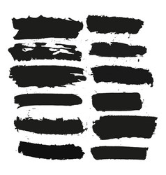 Black brushstroke set3 vector