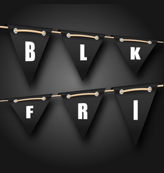 Black friday hanging bunting pennants advertising vector