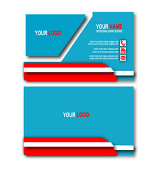 blue elegant business card vector image