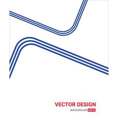 Blue line art color creative letterhead design vector