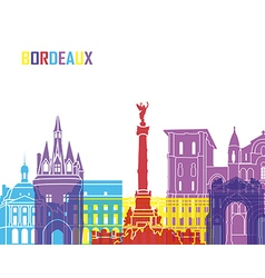 Bordeaux skyline pop vector