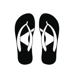 Brazilian flip flops icon simple style vector image