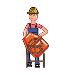 builder knead concrete vector image