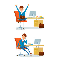 Business person people at office working by desk vector