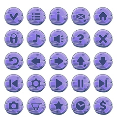 Buttons round purple vector