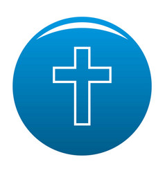 catholic cross icon blue vector image