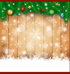 christmas background with fir and copy space vector image