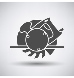 Circular saw icon vector