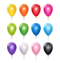 colored balloon birthday party decoration vector image
