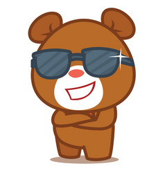 cool bear character vector image